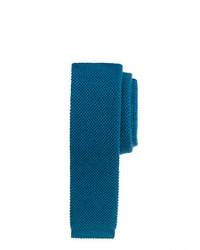 Corbata de punto en verde azulado de J.Crew