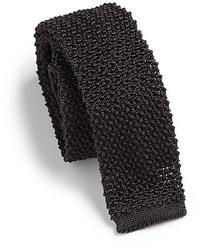 Corbata de punto negra