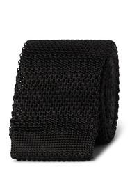Corbata de punto negra de Burberry