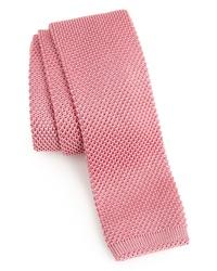 Corbata de punto rosada