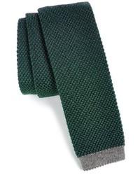 Corbata de punto verde oscuro