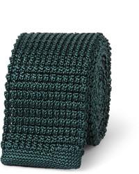 Corbata de punto verde oscuro de Lanvin