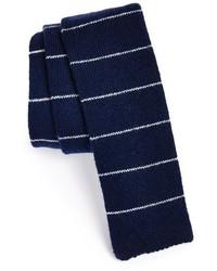 Corbata de rayas horizontales en azul marino y blanco de Todd Snyder
