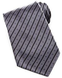 Corbata de rayas horizontales en gris oscuro de Stefano Ricci