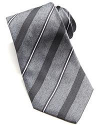 Corbata de rayas horizontales gris de Armani Collezioni