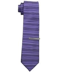 Corbata de rayas horizontales morado