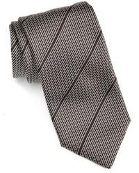 Corbata de rayas horizontales negra