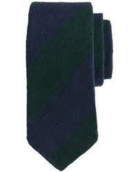 Corbata de rayas horizontales verde oscuro de Drakes