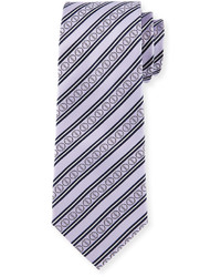 Corbata de rayas horizontales violeta claro