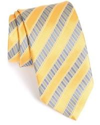 Corbata de rayas verticales amarilla de Ermenegildo Zegna