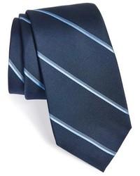 Corbata de rayas verticales azul marino