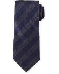 Corbata de rayas verticales azul marino de Giorgio Armani
