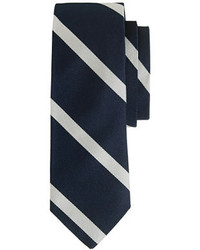 Corbata de rayas verticales azul marino de J.Crew