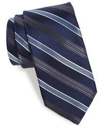 Corbata de rayas verticales azul marino de Michael Kors