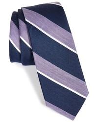 Corbata de rayas verticales azul marino de The Tie Bar