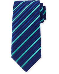 Corbata de rayas verticales azul de Charvet