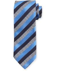 Corbata de rayas verticales azul de Ermenegildo Zegna