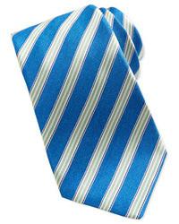 Corbata de rayas verticales azul de Kiton