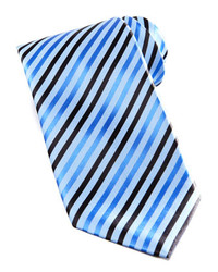 Corbata de rayas verticales azul de Stefano Ricci