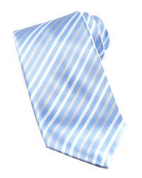 Corbata de rayas verticales celeste
