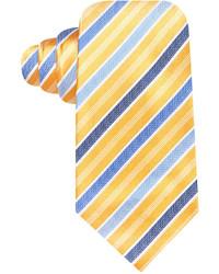 Corbata de rayas verticales en azul marino y amarillo