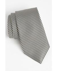 Corbata de Rayas Verticales en Blanco y Negro de David Donahue