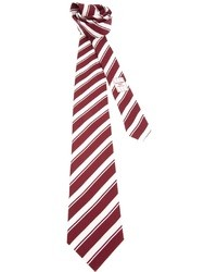 Corbata de rayas verticales en blanco y rojo de Ermenegildo Zegna