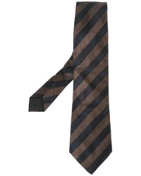 Corbata de rayas verticales en marrón oscuro