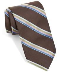 Corbata de rayas verticales en marrón oscuro de Ted Baker London