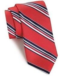 Corbata de rayas verticales en rojo y azul marino de Nordstrom
