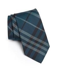 Corbata de rayas verticales en verde azulado