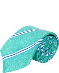 Corbata de rayas verticales en verde menta