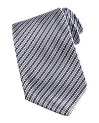 Corbata de rayas verticales gris