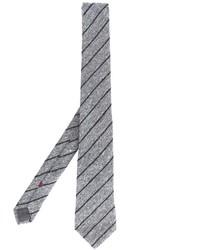Corbata de rayas verticales gris de Brunello Cucinelli