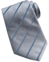 Corbata de rayas verticales gris de Giorgio Armani