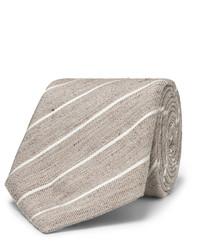 Corbata de rayas verticales marrón claro de Canali