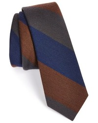 Corbata de rayas verticales marrón de The Tie Bar