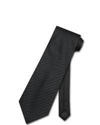 Corbata de rayas verticales negra