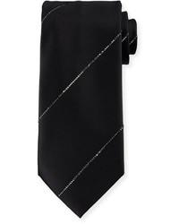 Corbata de rayas verticales negra de Stefano Ricci