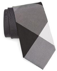 Corbata de Seda a Cuadros Gris de Burberry