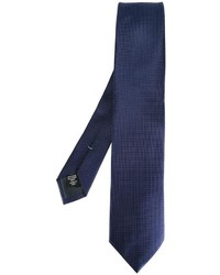 Corbata de seda a lunares azul marino de Ermenegildo Zegna