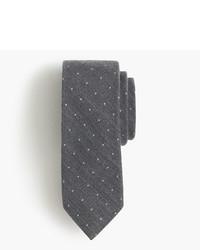 Corbata de seda a lunares en gris oscuro de J.Crew
