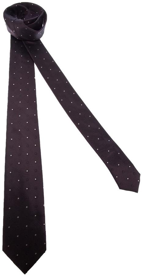 Corbata de seda a lunares marrón de Dolce & Gabbana
