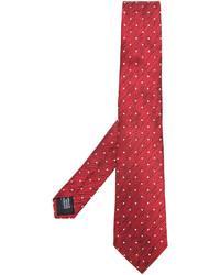Corbata de seda a lunares roja de Cerruti