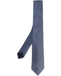 Corbata de seda azul marino de Gucci