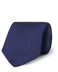 Corbata de seda azul marino de Turnbull & Asser