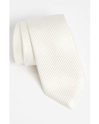Corbata de seda blanca