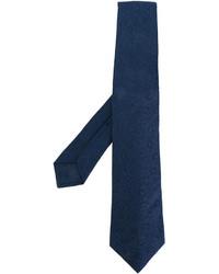 Corbata de seda bordada azul marino de Kiton