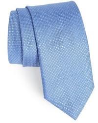 Corbata de seda con estampado geométrico azul de Canali