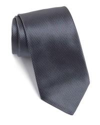 Corbata de seda con estampado geométrico en gris oscuro de BOSS